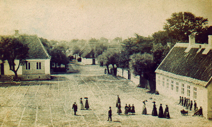 Rådhustorget i Skanör, ca 1870